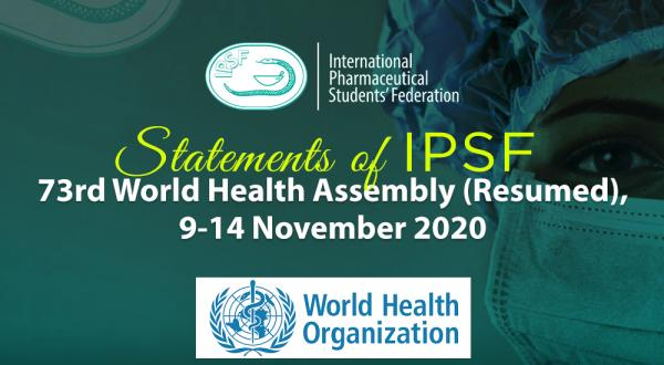 IPSF Interventions during the 73rd World Health Assembly - Resumed Session November 2020