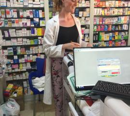 SEP student at work in a community pharmacy