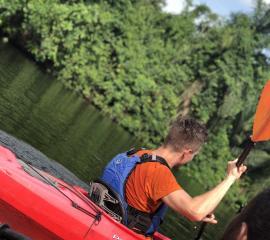 SEP student Kayaking