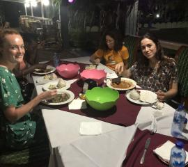 Dinner by the beach resort at Akosombo