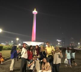 A night in Monas, the icon of Jakarta
